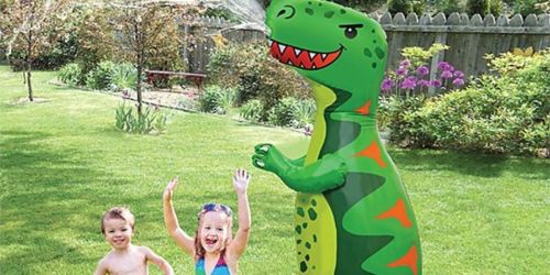 Dinosaur & Monster 72″ Inflatable Sprinklers Only $26.99 on Zulily.com (Regularly $40)
