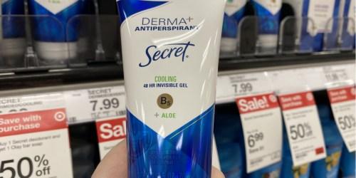 Secret Derma+ Antiperspirant Just $3 After Cash Back at Target (Regularly $8)