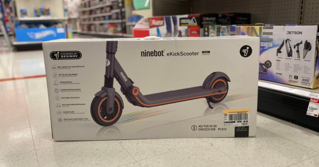 electric scooter in aisle