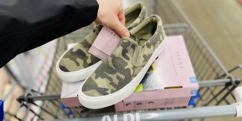 Women's Memory Foam Canvas Sneakers Only $7.99 at ALDI | 3 Style Choices