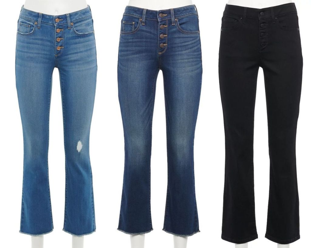 3 colors Sonoma Goods for Life Cropped Flare denim