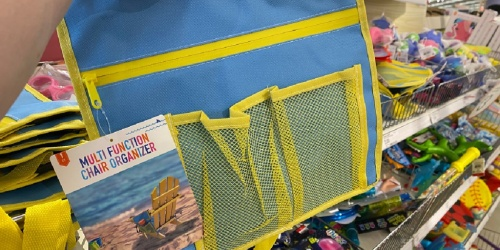 Chair Organizer Only $3 at Target | Perfect for Beach & Camping Trips