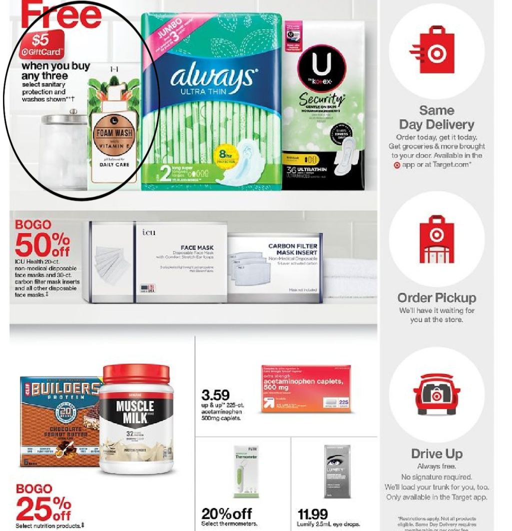target deals page eight