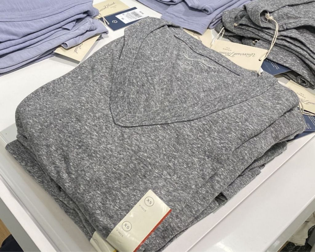 Target Universal Thread Gray VNeck Tshirt on display in store