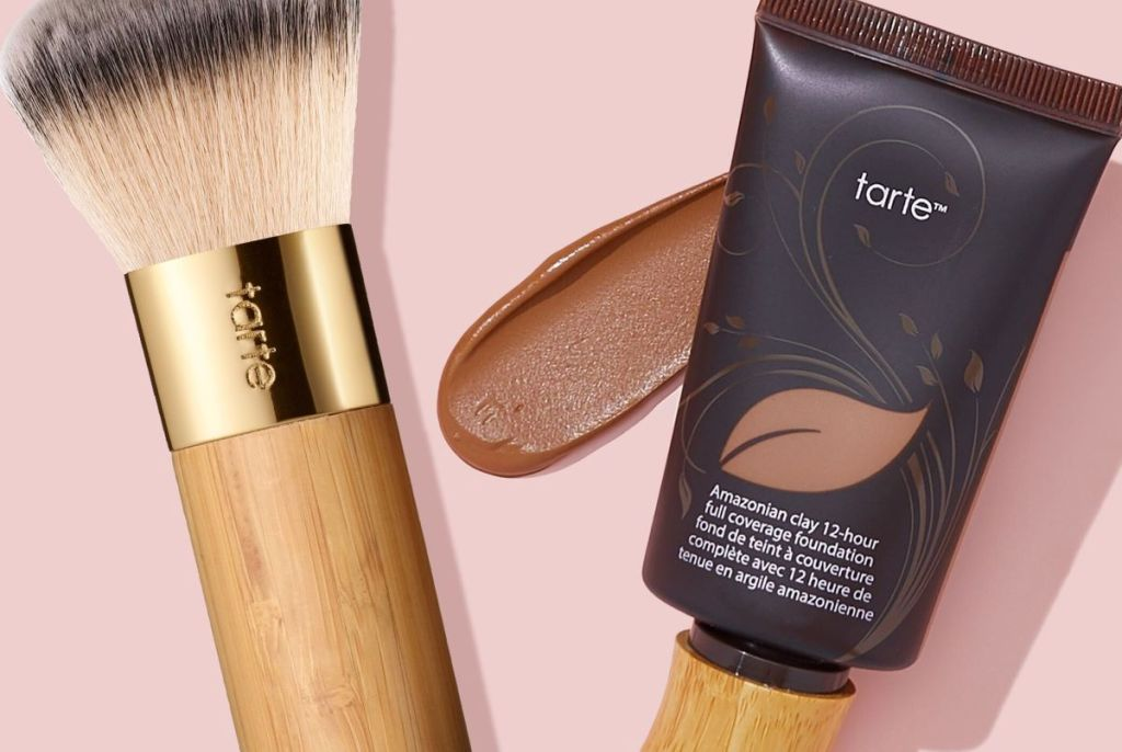 Tarte Amazonian Clay Foundation and brush