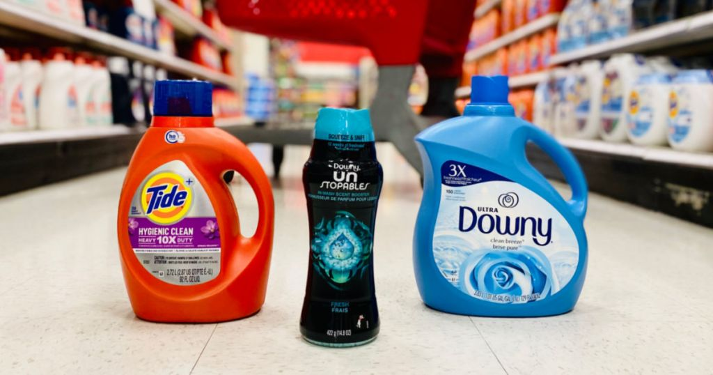 laundry products in aisle