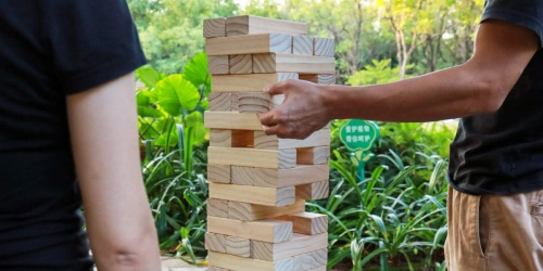 Giant Toppling Tower Game Only $23.99 Shipped on Woot.com (Regularly $44) + More Backyard Games