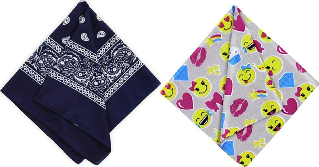 two single bandanas