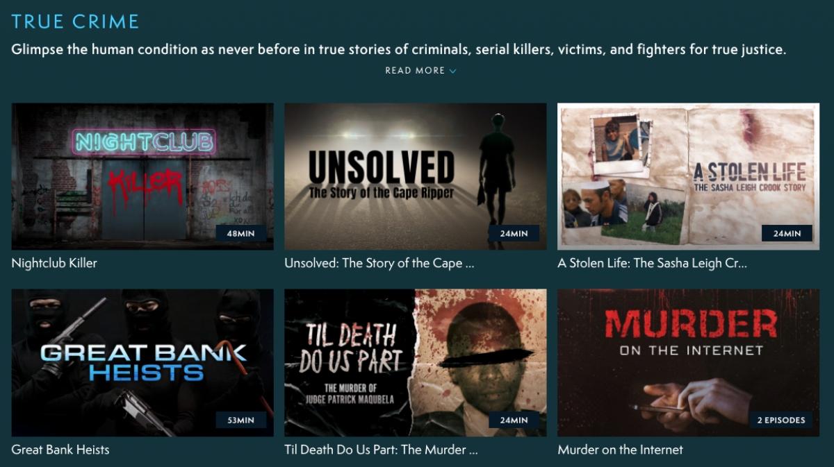 true crime playlist from MagellanTV