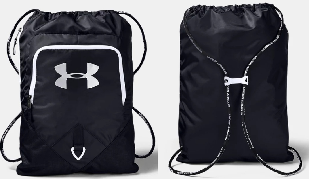 front and back view of a backpack