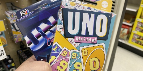 UNO Iconic Decade Card Games Possibly Only $1.79 at Target (Regularly $6)