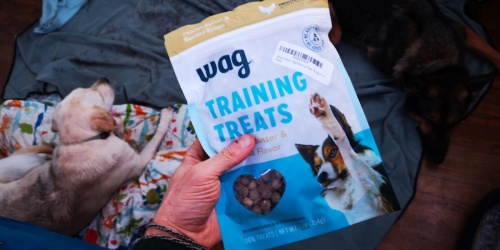 Wag Training Treats 1lb Bag Only $4.39 Shipped on Amazon + Over 40% Off More Dog Treats & Food