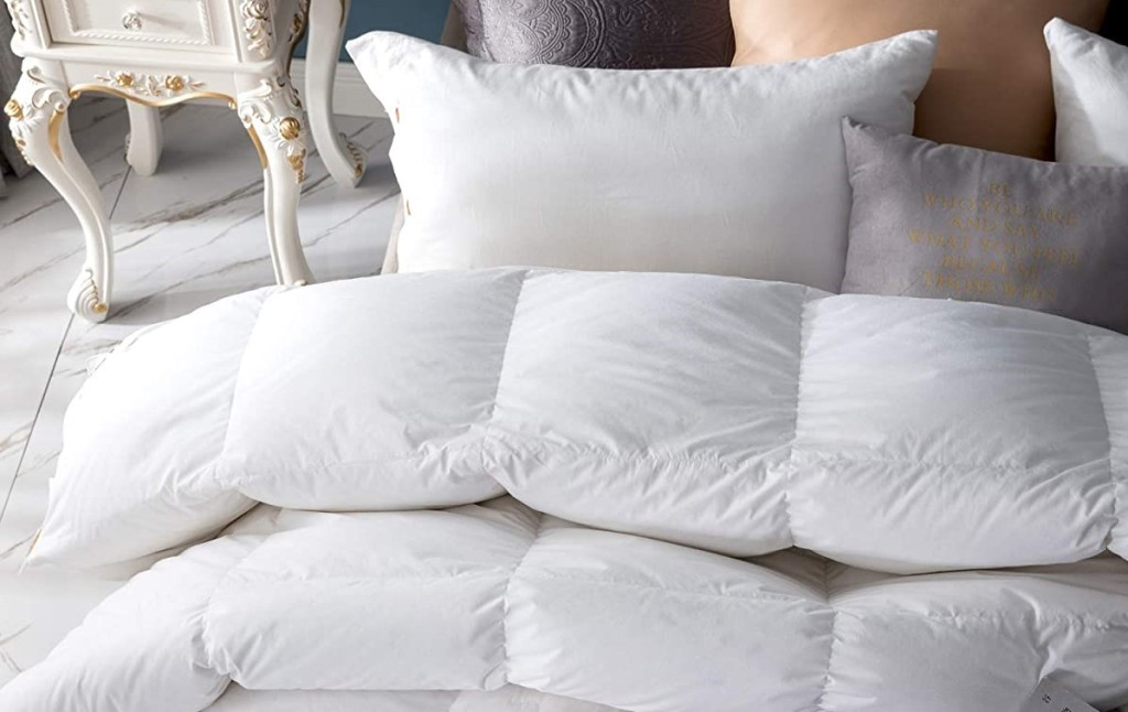 comforter on a bed