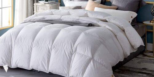 50% Off Hypoallergenic Down Comforters on Amazon