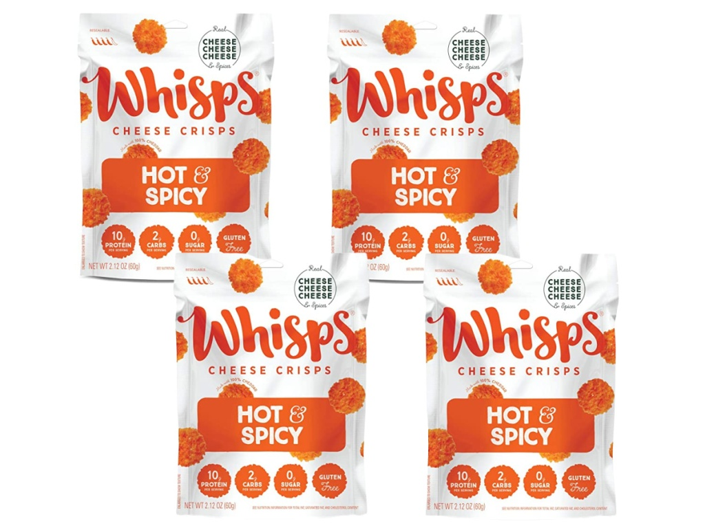 Whisps Cheese Crisps Hot & Spicy