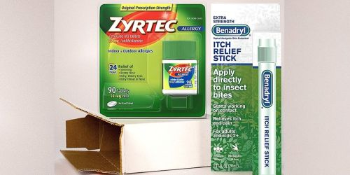 Zyrtec Allergy Relief 90-Count + Benadryl Itch Relief Stick Just $26.87 Shipped on Amazon