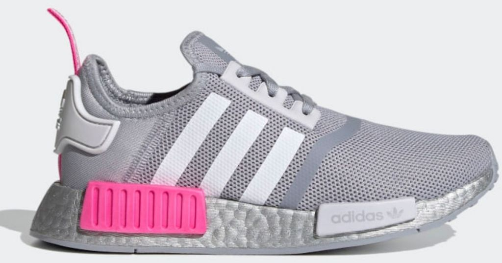 gray and pink gray adidas shoes