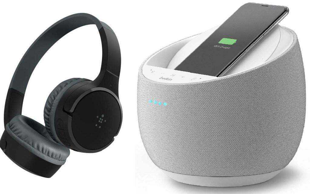belkin headphones and speaker