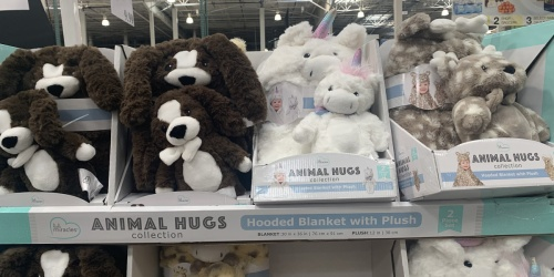 Super-Soft Kids Hooded Blanket & Plush Set Only $12.99 at Costco | 4 Cuddly Styles