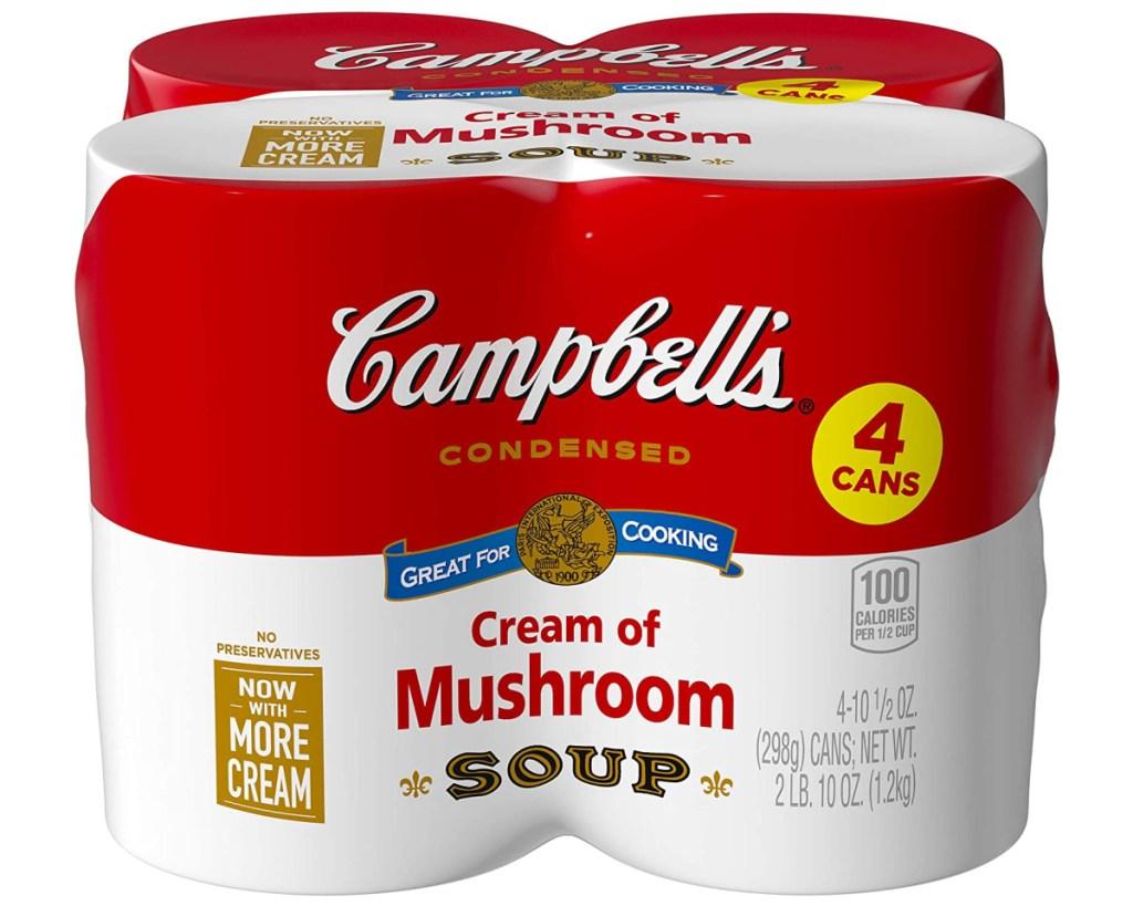 campbells cream of mushroom 4 pack