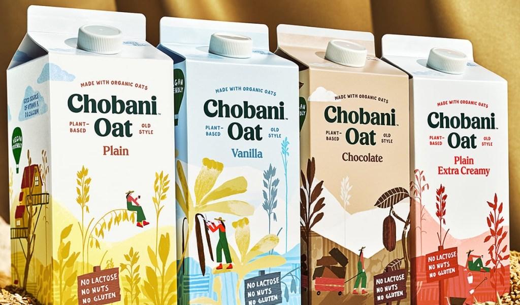 4 half-gallons of Chobani Oat Milk