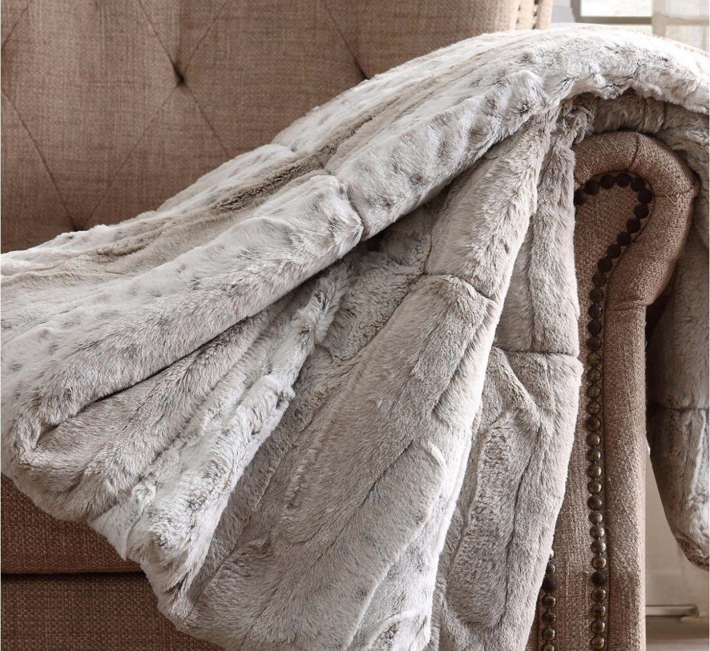 christian siriano luxury throw blanket over couch