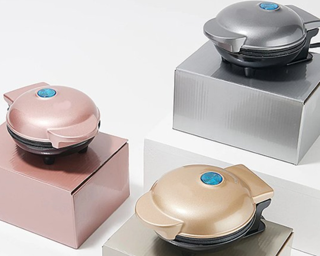 dash mini griddles gold rose gold and silver