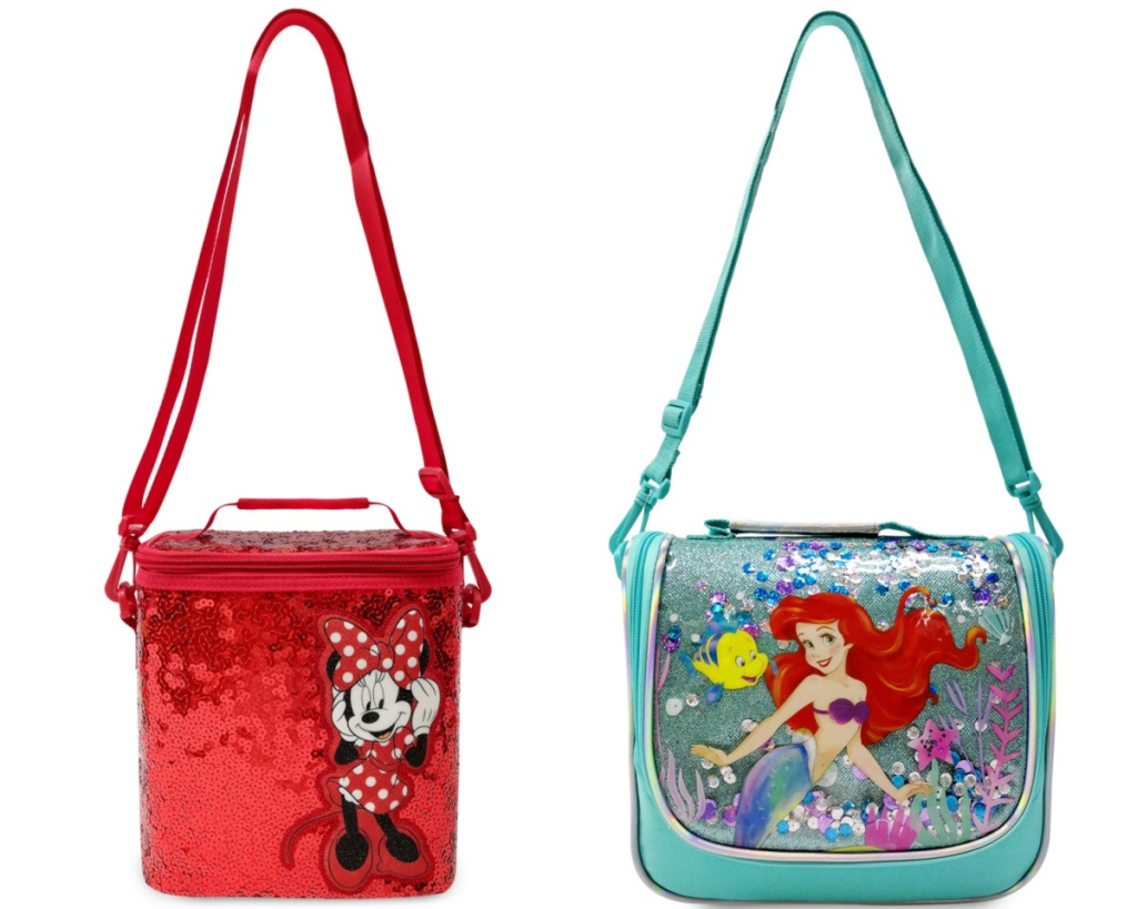 minnie and mermaid disney lunch boxes