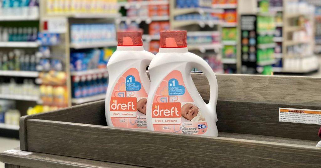 2 bottles of Dreft newborn detergent