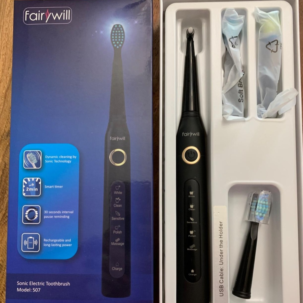 electric toothbrush in packaging