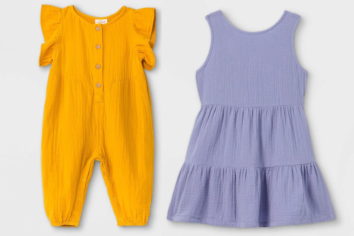 gauze kids outfits