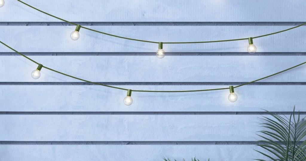 green string lights