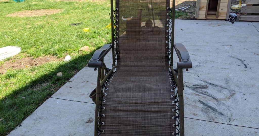Zero Gravity Chair on porch