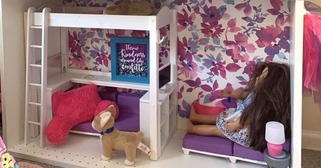 barbie house with accessories and doll