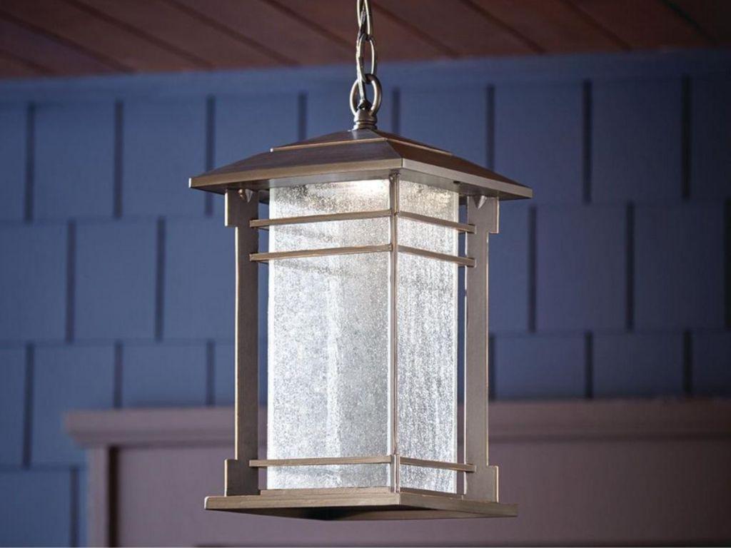 bronze hanging light