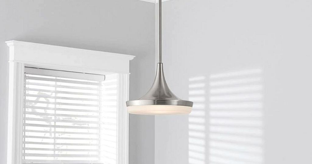brushed silver hanging light