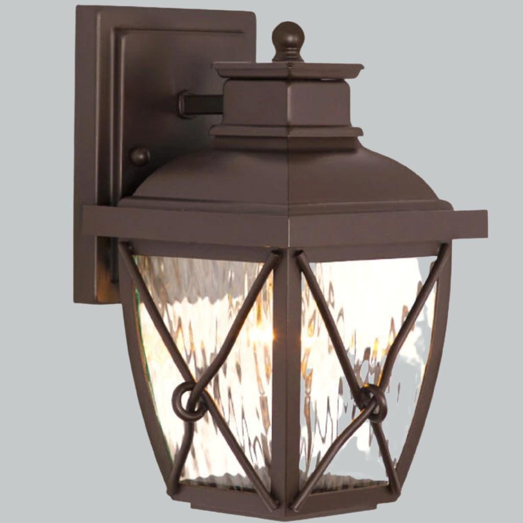brown lantern outdoor light