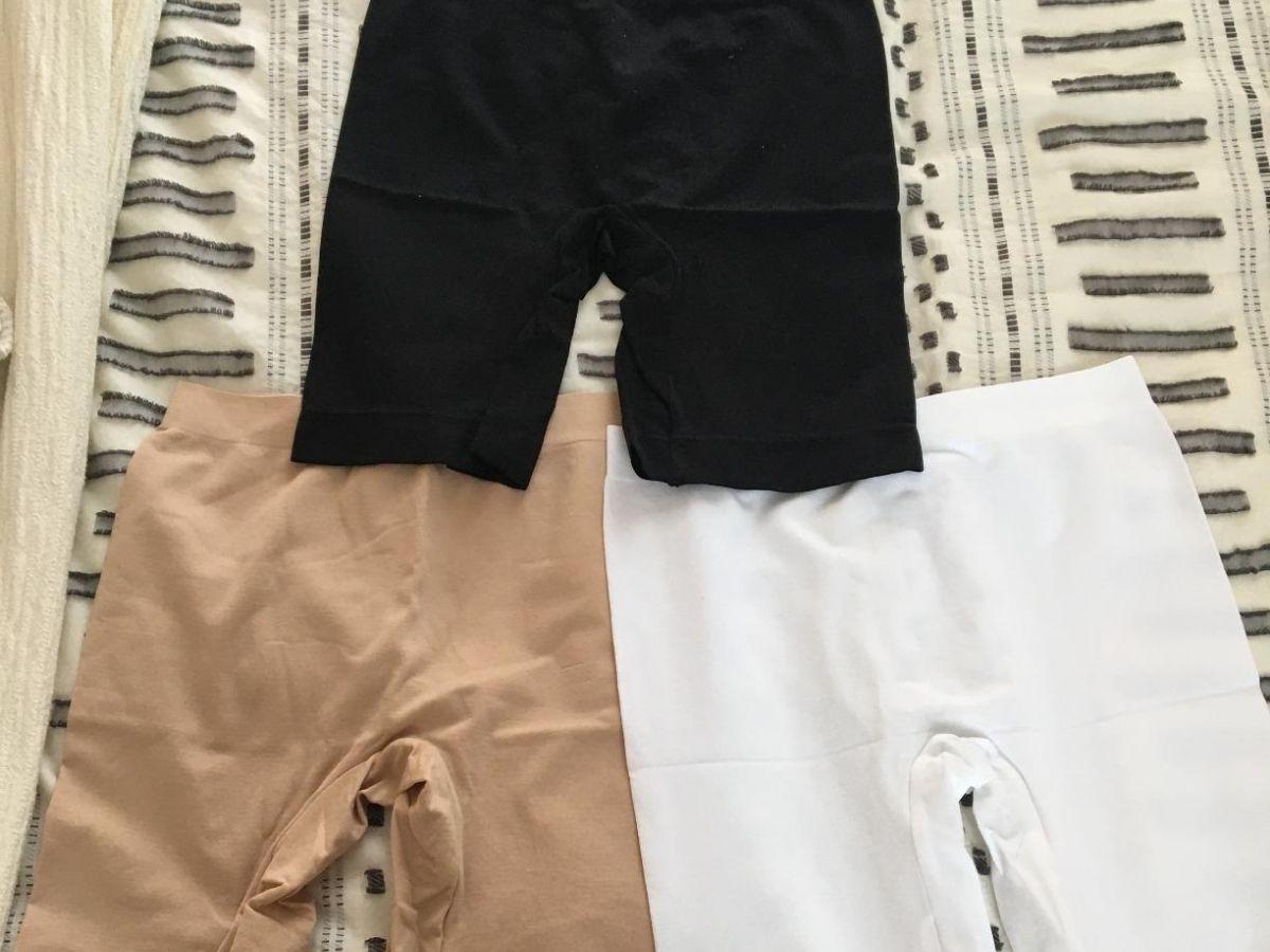 three pairs of slip shorts