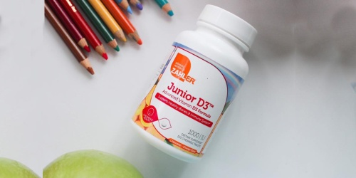Kids Vitamin D Tablets 120-Count Bottle Only $5 Shipped on Amazon (Reg. $15) + Up to 65% Off Supplements