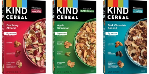 KIND Cereal 4-Count from $13 Shipped on Amazon | Just $3.25 Per Box