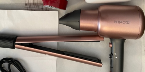 Rose Gold Hair Dryer & Straightener Set Only $39.81 Shipped on Amazon