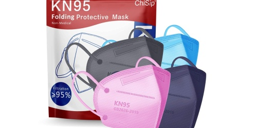 KN95 Face Mask 20-Pack Only $5.99 on Amazon | Just 30¢ Each