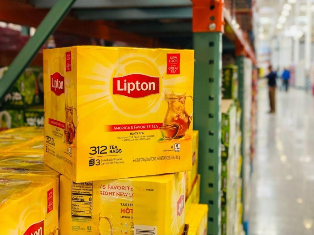 Lipton 312 Tea Bags on display in Costco