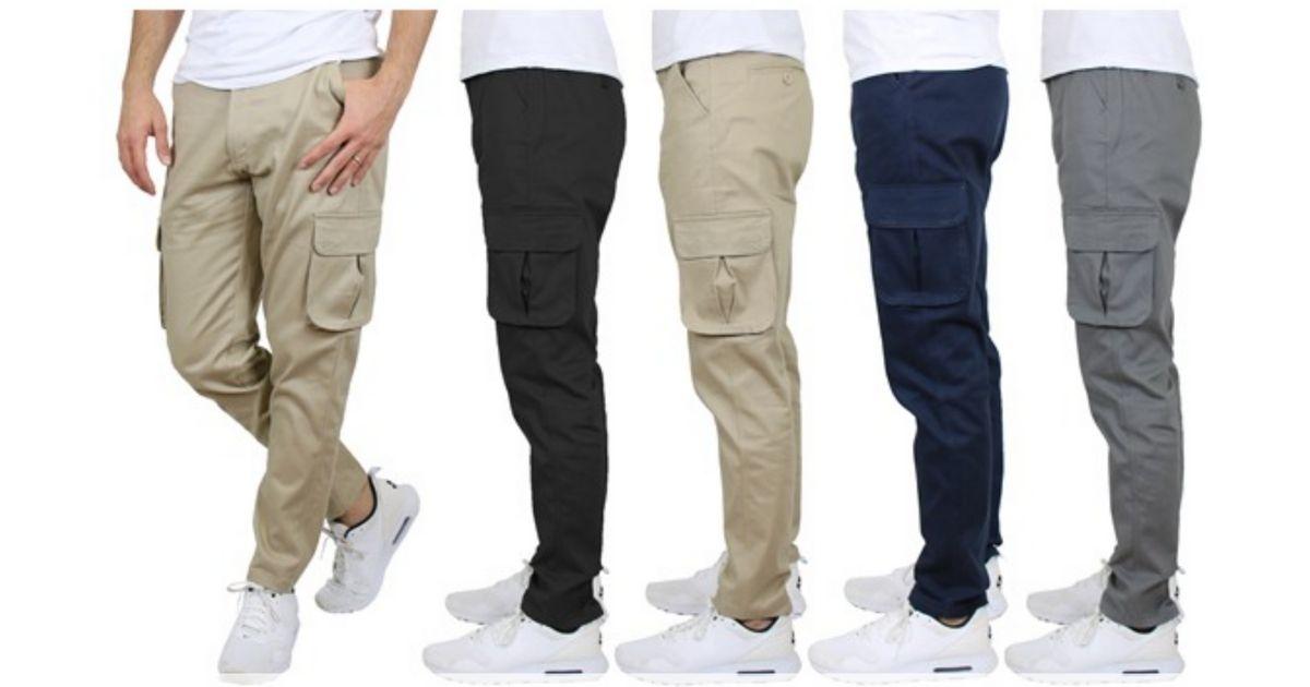 men wearing cargo pants