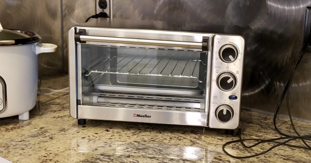 Mueller toaster oven on counter