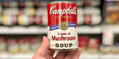 Campbell's Condensed Cream of Mushroom Soup 4-Pack Just $3 on Amazon (Only 75¢ Per Can!)
