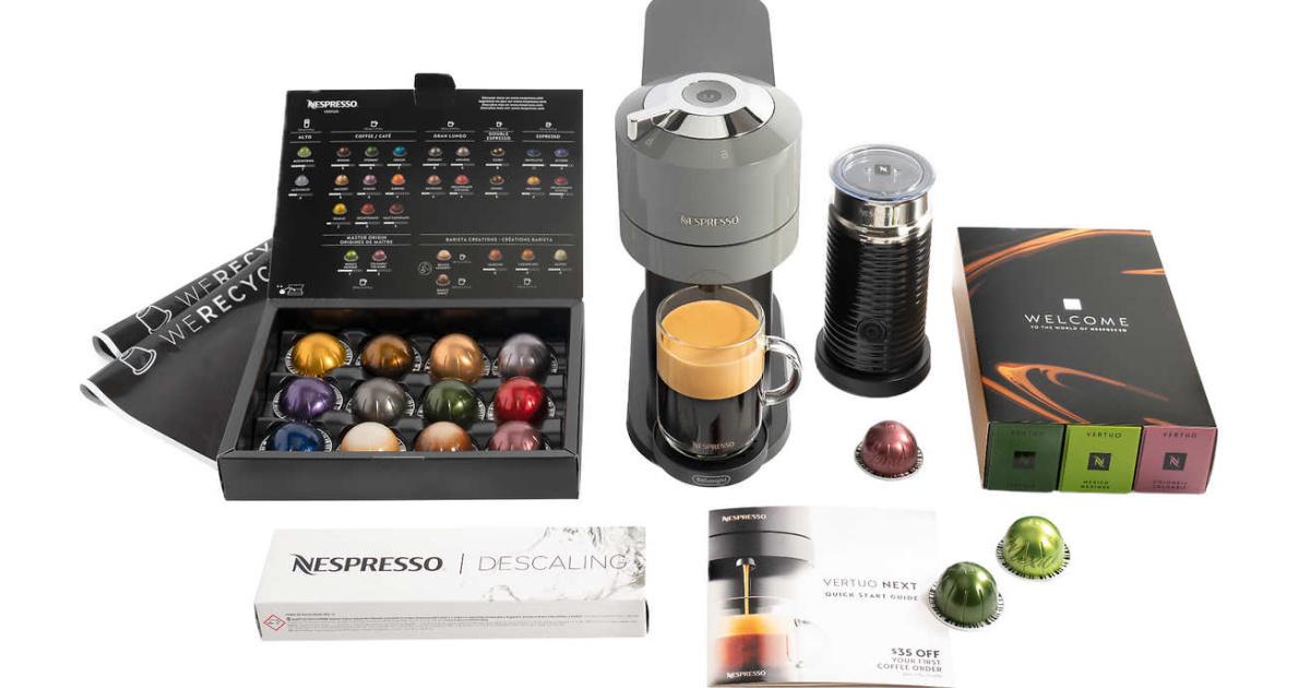 Nespresso machine and accessories