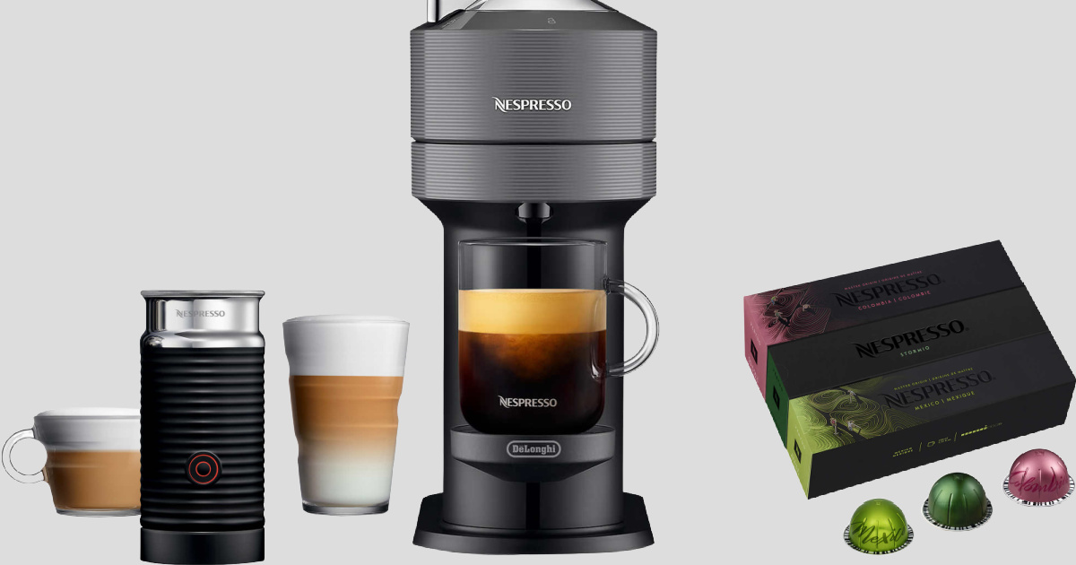 Nespresso maker and accessories