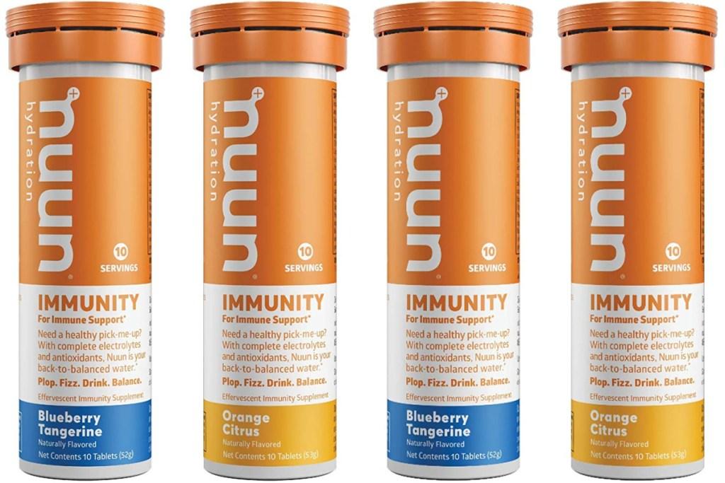 4 tubes of nuun immunity