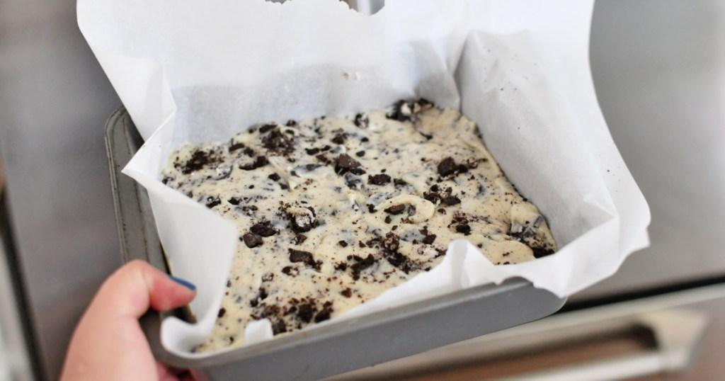 pan of oreo easy fudge recipe